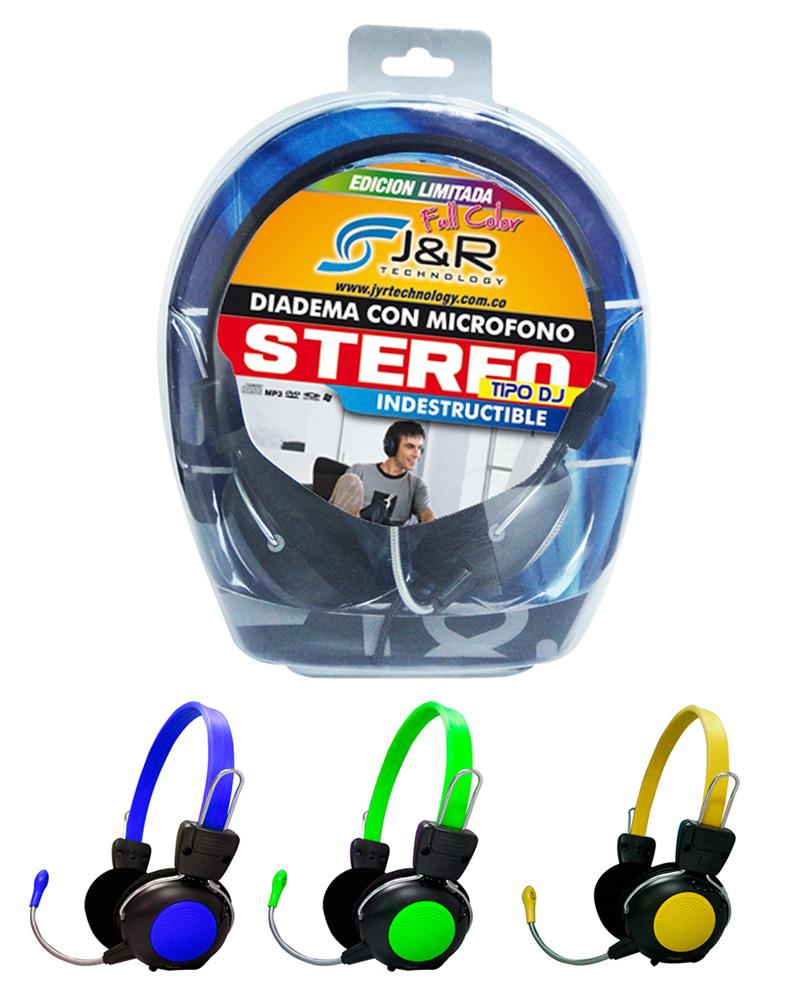 Diadema Stereo Tipo DJ con microfono